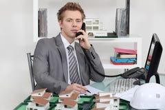 Ufficio di agenzia della proprietà Immagine Stock