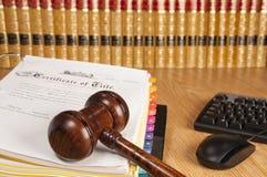 Ufficio di avvocato Immagini Stock Libere da Diritti