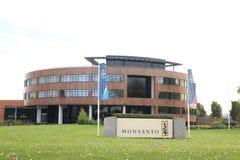 Ufficio di Bayer Monsanto in Bergschenhoek vicino a molte serre nei Paesi Bassi immagini stock