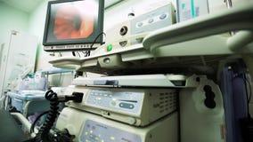 Ufficio di gastroscopia in ospedale dell'ambulanza video d archivio