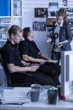 Ufficio di indagine di polizia Fotografia Stock