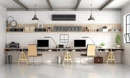 Ufficio di ingegneria o di architettura nello stile industriale illustrazione di stock