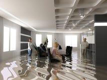 Ufficio di inondazione illustrazione vettoriale