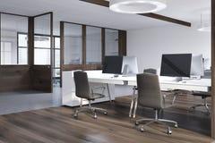 Ufficio di lusso interno, vista laterale Immagini Stock Libere da Diritti