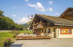 Ufficio di turismo - d'Abondance di Maison du Val, Francia Immagini Stock Libere da Diritti