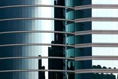 Ufficio di vetro blu di alta tecnologia Immagini Stock Libere da Diritti