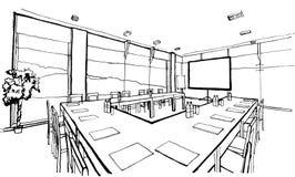 Ufficio, disegno della mano, inc Immagine Stock