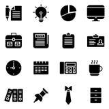 Ufficio ed icone legate al mercato Fotografia Stock Libera da Diritti