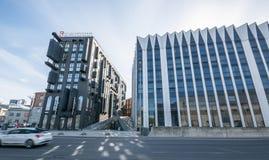 Ufficio interno, costruzioni moderne Immagini Stock