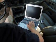 Ufficio mobile (schermo in bianco) Fotografia Stock