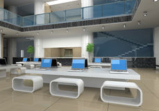 ufficio moderno interno Fotografia Stock Libera da Diritti