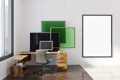 Ufficio moderno, manifesto, verde dell'installazione di arte Fotografia Stock