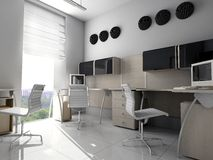 Ufficio moderno in Verde Fotografia Stock