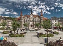 Ufficio municipale della città di Walbrzych Fotografia Stock Libera da Diritti