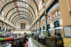 Ufficio postale centrale di Saigon, Vietnam Fotografia Stock Libera da Diritti