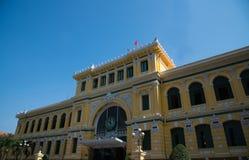 Ufficio postale centrale nella città di Ho Chi Minh fotografia stock