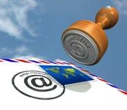 Ufficio postale di Web Fotografia Stock Libera da Diritti