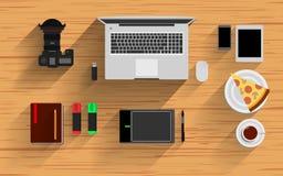 Ufficio-Posto di lavoro-elementi Fotografie Stock Libere da Diritti