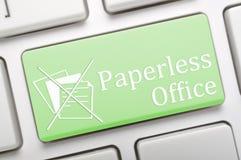 Ufficio senza carta Immagini Stock Libere da Diritti