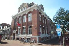 Ufficio turco della console a Rapenburg nel centro urbano della città Leida nei Paesi Bassi immagini stock