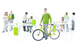 Ufficio verde di affari Fotografia Stock Libera da Diritti