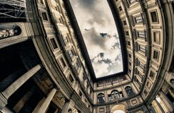 Uffizi byggnad i Florence 免版税库存图片
