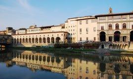 Uffizi galleri, Florence, Italien Arkivfoto