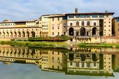 Uffizi galleri i Florence, Tuscany, Italien fotografering för bildbyråer
