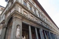 Uffizi galleri, primär konstmusem av Florence italy tuscany Royaltyfria Bilder