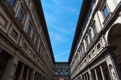 Uffizi galleri, primär konstmusem av Florence italy tuscany Arkivfoto
