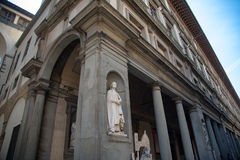 Uffizi galleri, primär konstmusem av Florence italy tuscany Royaltyfri Bild