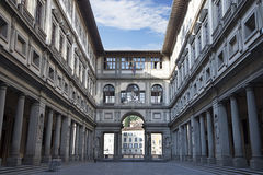 Uffizi Gallery at early morning Royalty Free Stock Images