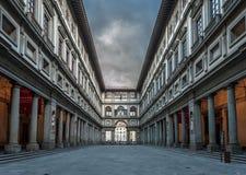 Uffizi Gallery. The famous Uffizi Gallery early in the morning Royalty Free Stock Photo