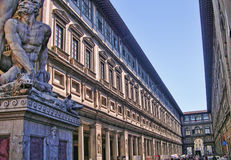 The Uffizi Gallery in Florence Stock Photography
