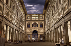 Uffizi Gallery. Night Shot Stock Images
