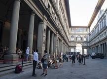 Uffizi FIRENZE. The Uffizi Gallery Piazzale degli Uffizi in Florence, Italy royalty free stock image