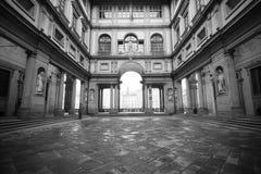 Uffizi museum, Florence. Uffizi gallery in Florence, Tuscany, Italy royalty free stock images