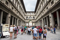 Uffizi museum Stock Photography