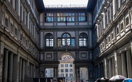The Uffizi in Florence royalty free stock photography