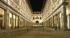 Uffizi Nachtschuß Stockbild