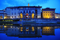 The Uffizi Palace. In Florence, Italy Stock Images