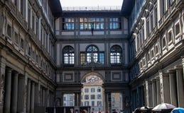 Uffizien i Florence royaltyfri fotografi