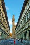 Uffizien Palazzo i Florence i Florence royaltyfri bild