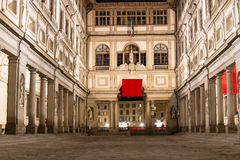 Uffizigalerij, primair kunstmuseum van Florence Toscanië stock afbeelding