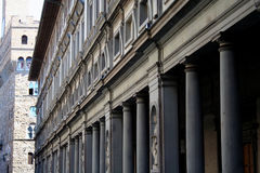 Uffizzi Museum in Florence stock photography