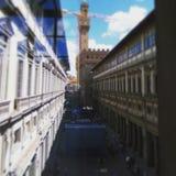 Uffizzi para arriba de la galería Imagen de archivo libre de regalías