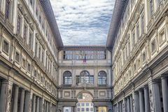 Ufizzi画廊在佛罗伦萨,托斯卡纳 库存照片