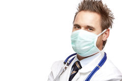 ufna doktorska przystojna maskowa medyczna jaźń fotografia stock