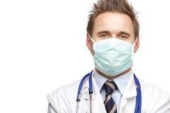 ufna doktorska szczęśliwa maskowa medyczna jaźń zdjęcia stock