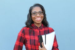 Ufna mądrze młoda czarna kobieta fotografia royalty free
